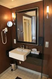 Wallpaper Bathroom Ideas Bathroom Luxury Modern Bathroom With Cream Color Wallapaper Idea