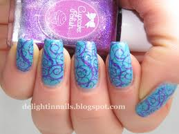 delight in nails 40 great nail art ideas pale blue base
