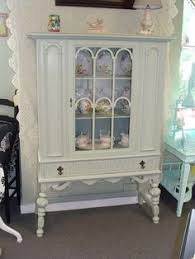 Curio Cabinets On Kijiji Displaying China In A Cabinet Vintage Shabby Chic Glass Display
