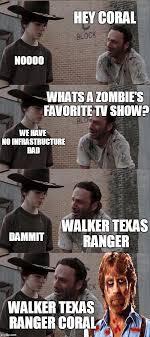 Hey Carl Meme - rick and carl long hey coral noooo whats a zombie s favorite tv