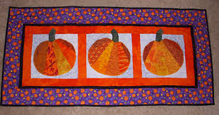 halloween table runners fiber arts and quilting