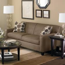 contemporary dark woode end table design beside glory brown sofa