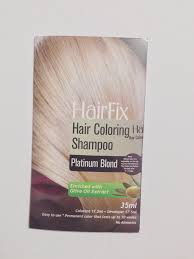 sachets of hair colours 2015 hairfix hair coloring shoo in platinum blond i am dyeing