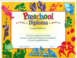 preschool certificates preschool certificate diploma 30 s