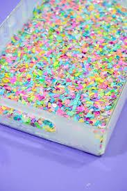 make a colorful confetti tray mod podge rocks