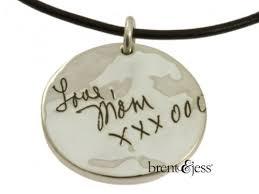 custom handwriting necklace memorial handwriting necklace custom handmade fingerprint