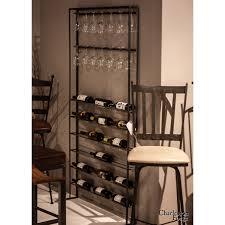 studio wrought iron wine rack industrial warehouse style