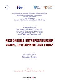 Am Agement Cuisine Professionnelle Responsible Entrepreneurship Vision Pdf Available
