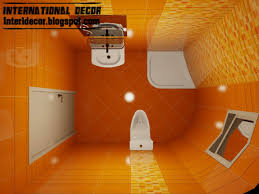 orange bathroom ideas 3d tiles design for small bathroom design ideas orange
