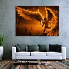 2017 framed hd printed dark angel fantasy wings wall art canvas