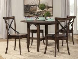 arendal oak counter height round dining table from alpine