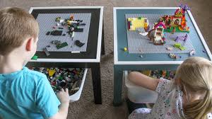 Diy Lego Table by This Diy Lego Table Keeps The Kids Entertained And Their Bricks