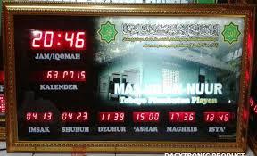 membuat jam digital led besar harga jam digital masjid jadwal waktu sholat digital abadi