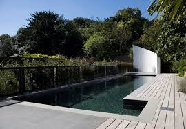 in ground swimming pool concrete mosaic outdoor london