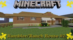 Ranch Rambler Style Home Minecraft Rambler Ranch House Walkthrough 2 Suburbcraft Ep 53