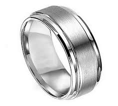 titanium mens rings titanium groove ring 8mm in men s rings