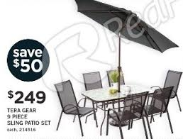 London Drugs Patio Furniture by Zehrs Tera Gear 9 Pc Sling Patio Set 249 00 Redflagdeals Com