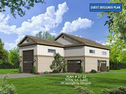 cottage garage plans garage plan 37 53 house plans by garrell associates inc