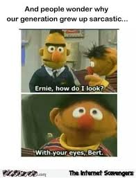 Sesame Street Memes - why i grew up sarcastic funny sesame street meme pmslweb