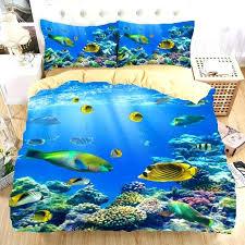 Ocean Duvet Cover Ocean Sea Fish 3d Bedding Set Monocerus Print Duvet Cover Twin