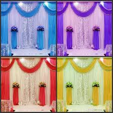 3m 6m wedding backdrop swag party curtain celebration stage