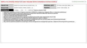 pbx operator resume hotel pbx operator resume example hotel best resume and cover
