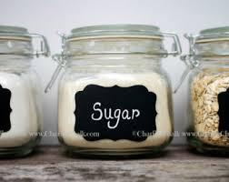 12 mason jar chalk labels kitchen labels canister labels