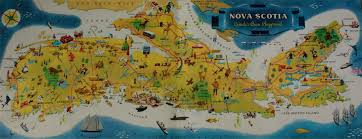 Map Of Nova Scotia Vintage Day Tripper