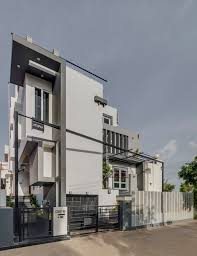 40x60 project west facing 4bhk house by ashwin architects at