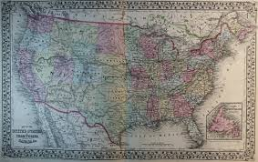 Usa Map 1860 by Map Of The United States 1869