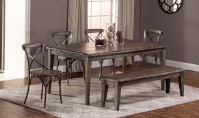 hillsdale lorient 6 pc rectangle dining set with x back chair and