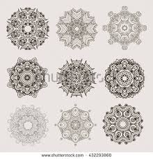 mehndi mandalas elements henna designs stock vector