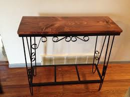 Entry Way Table Entry Way Table Made From Fish Tank Stand Cute Home Ideals