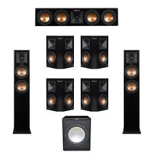 home theater 7 1 speaker system klipsch 7 1 system with 2 rp 250f tower speakers 1 rp 440c center