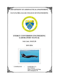 energy conversion engineering laboratory manual