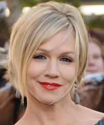 light and wispy bob haircuts jennie garth short straight formal bob hairstyle with side swept