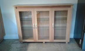 Oak Glazed Display Cabinet Oak Display Cabinets Second Hand Household Furniture Buy And