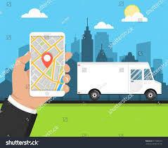 delivery service app concept fast delivery service delivery service stock vector