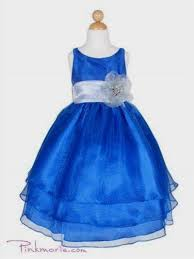 blue and silver flower dresses 2017 2018 newclotheshop
