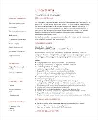 Warehouse Management Resume Sample by 7 Operations Manager Resume Free Sample Example Format Free