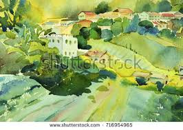 village life painting stock images royalty free images u0026 vectors