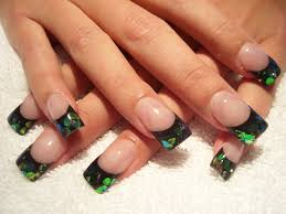 dark green and black acrylic nail nails art mania dark and
