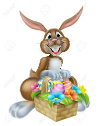 easter basket bunny easter bunny rabbit holding an easter basket of