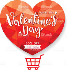 valentines sale valentines day sale offer banner template stock vector