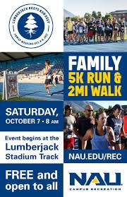 Nau Campus Map Nau Events Family Weekend 5k Run U0026 2 Mile Walk