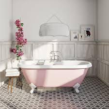 the bath co victoria rose coloured bath with hampshire shower free delivery victoria rose coloured bath with hampshire shower bath mixer tap