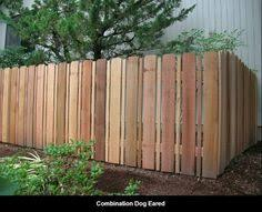 dog ear picket fence for the home pinterest privacy fences