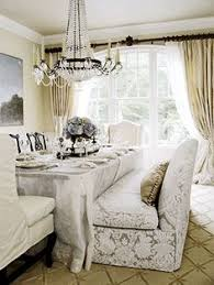 Traditional Dining Room  Pink Curtains  Very Classy Decor - Dining room with couch
