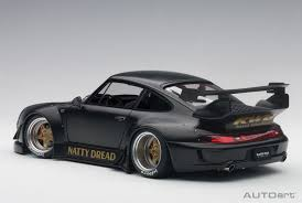 porsche model car autoart porsche rwb 993 1 18 model car 78154 matt black with gold