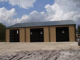 garage white green themed metal barns with living quarters and